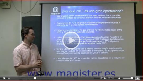 Video Novedades Maestros 2013